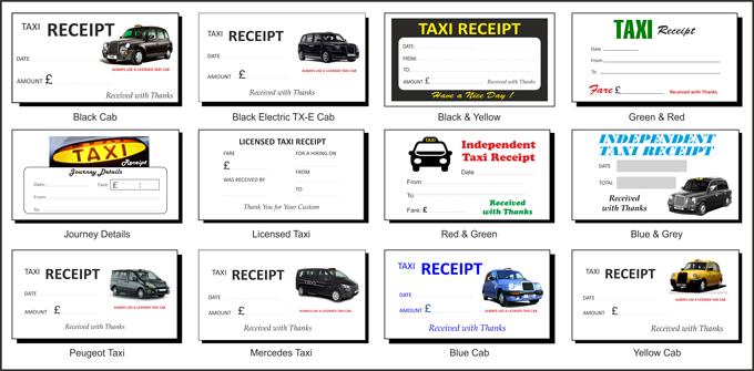 Taxi Receipt Pads