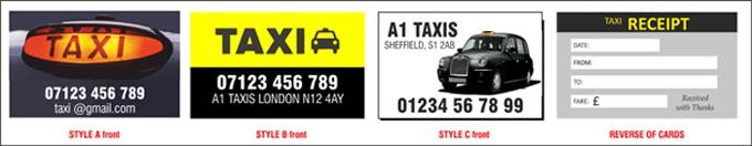 Taxi Receipt Cards