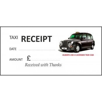 Black Cab Taxi Receipt Pads