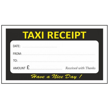 Black & Yellow Taxi Receipt Pads