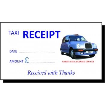 Blue Cab Taxi Receipt Pads