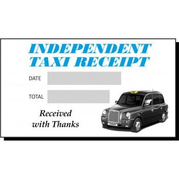 Blue & Grey Independent Taxi Receipt Pads