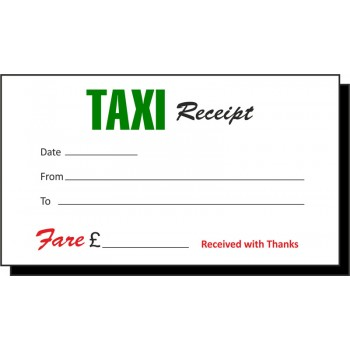 Green & Red Taxi Receipt Pads