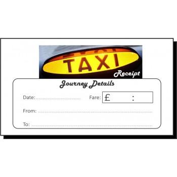 Journey Details Taxi Receipt Pads