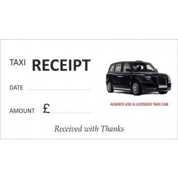 Black Electric TX-E Taxi Receipt Pads