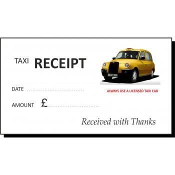 Yellow Cab Taxi Receipt Pads